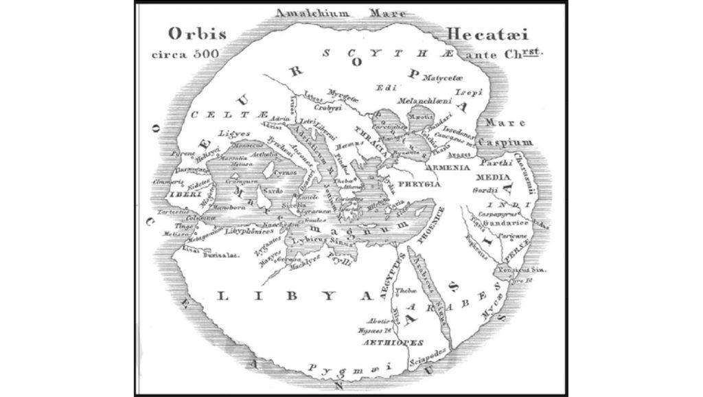 Ecateo Da Mileto Cartina