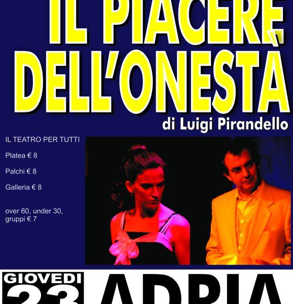 Teatro Adria Locandina Web Piacere Onesta