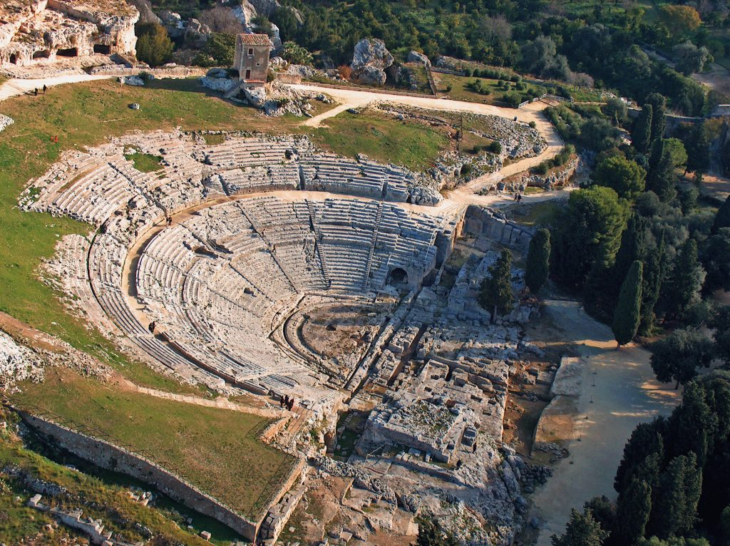 Adria potenza economica nell'adriatico- Teatro Greco Di Siracusa Aerea
