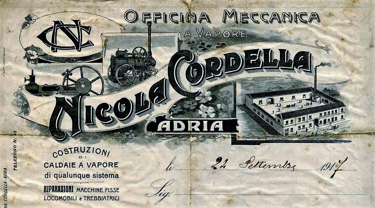 macchine idrovore la loro storia-Carta intestata