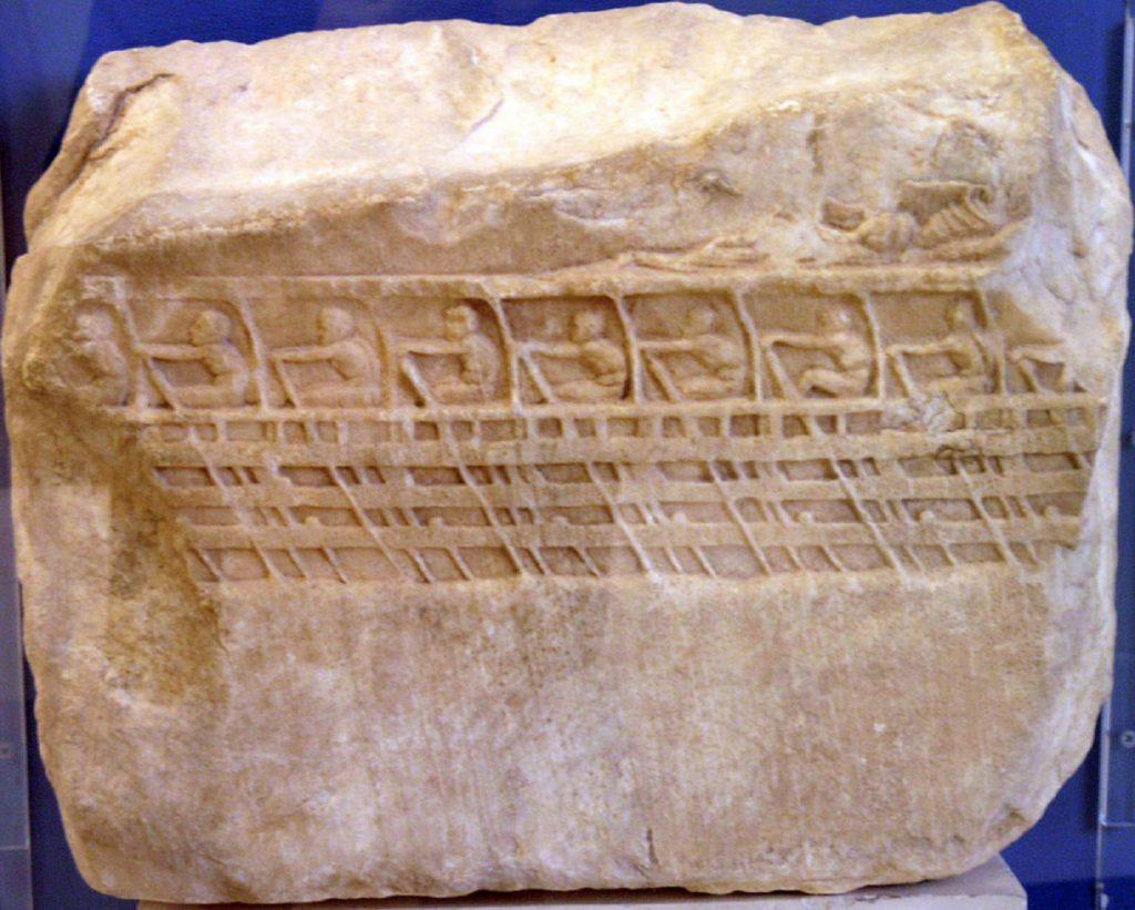 Adria idrografia età del bronzo- Bassorilievo con trireme greca