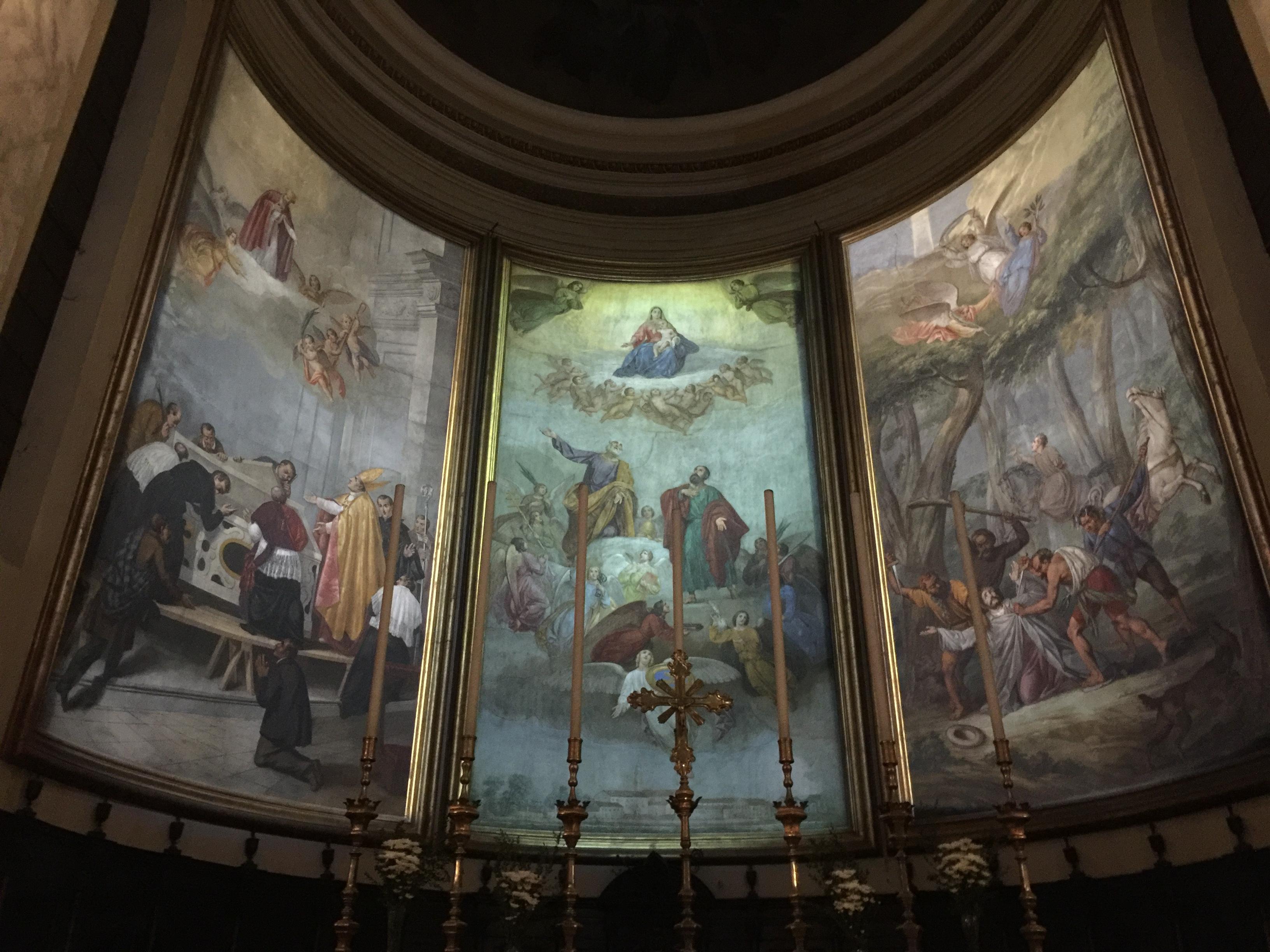 Una cattedrale tra le più grandi e belle- Affreschi Sebastiano Santi