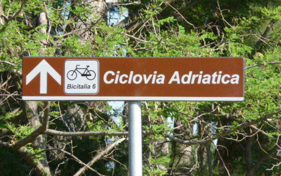 Ciclovia Adriatica - cartello di segnalazione