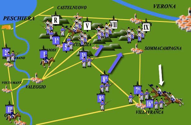 Impero asburgico - Custoza Mappa