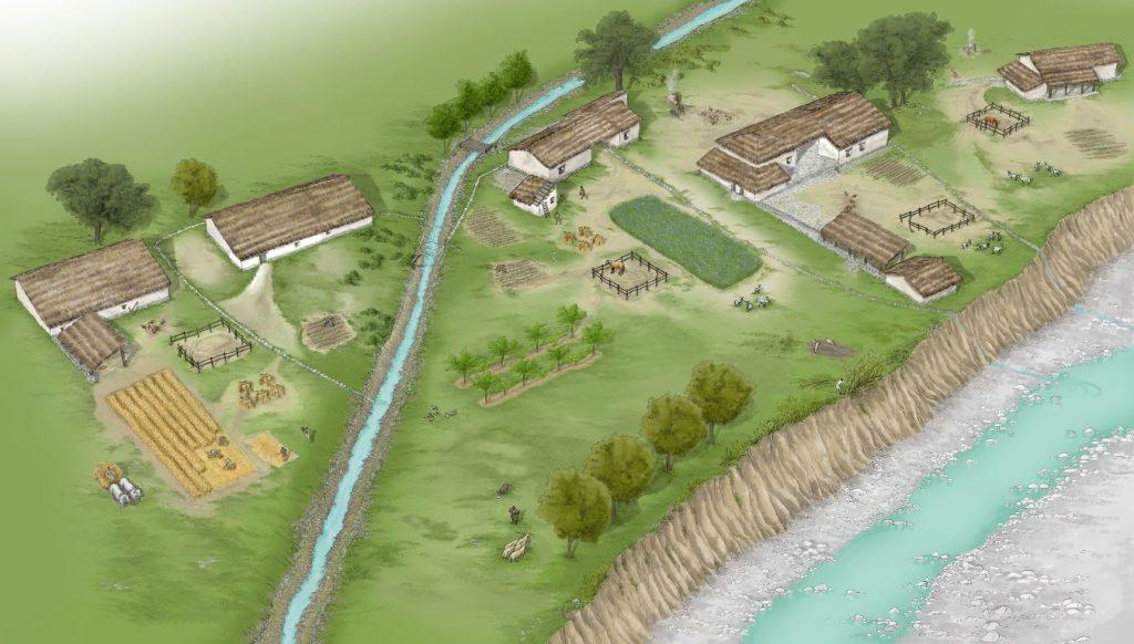 Adria e i conquistatori Etruschi - Ricostruzione di un insediamento etrusco