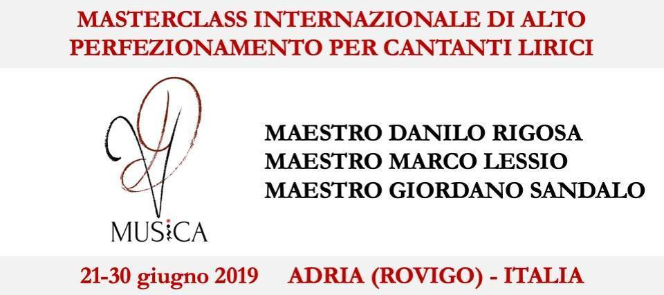 Accademia VD Musica - volantino promozionale masterclass giugno 2019