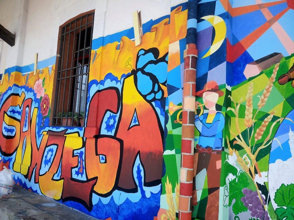 Murales - particolare della ganzega