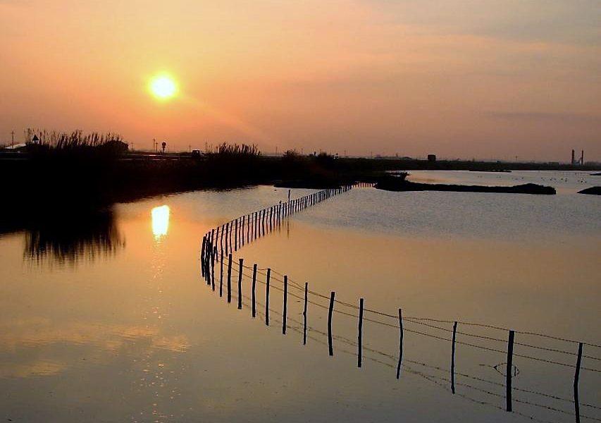 Valli di Rosolina al tramonto