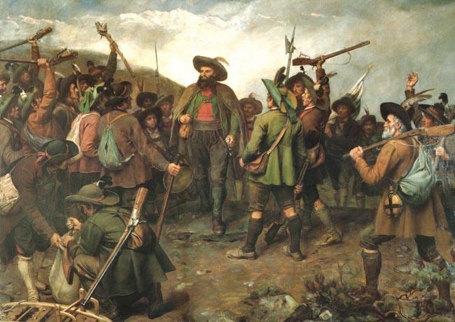 Andreas Hofer In mezzo Ai Suoi Uomini durante le insorgenze del luglio 1809