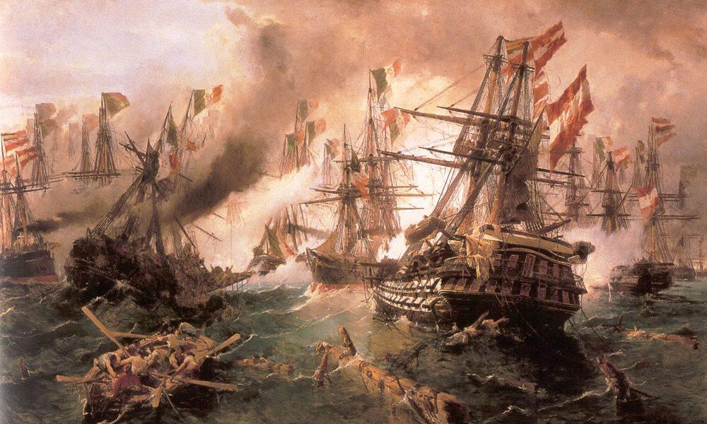 Constantine Volanakis Naval Battle At Lissa