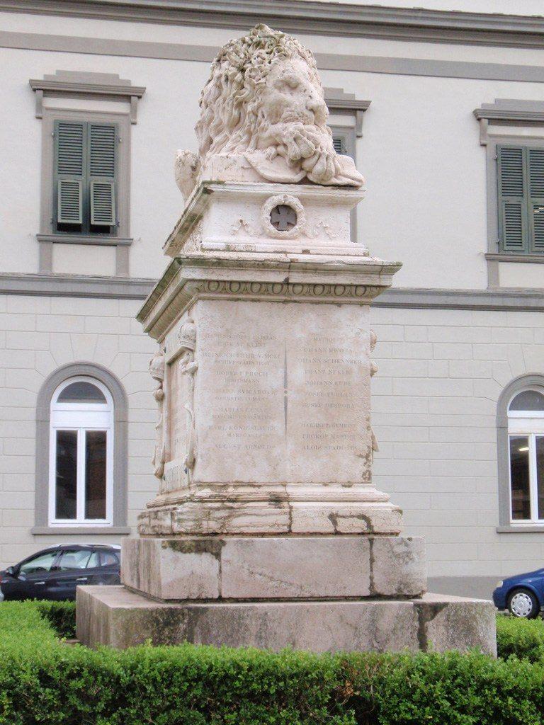 Lissa 20 luglio 1866 Il 'leone Di Lissa'. Monumento Eretto Dagli Austriaci A Lissa Per Celebrare La Loro Vittoria Navale