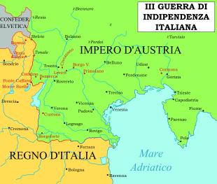 Scenario Territoriale Agli Inizi Della Terza Guerra D'indipendenza