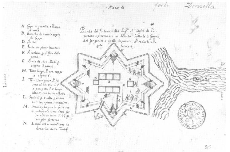 Forte della Donzella - mappa del forte