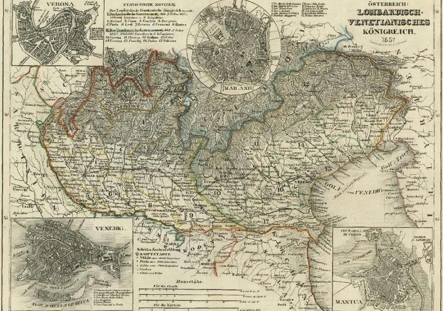 Mi chiamo Giacinto Carta Geografica Del Regno Lombardo Veneto Foto Popolis