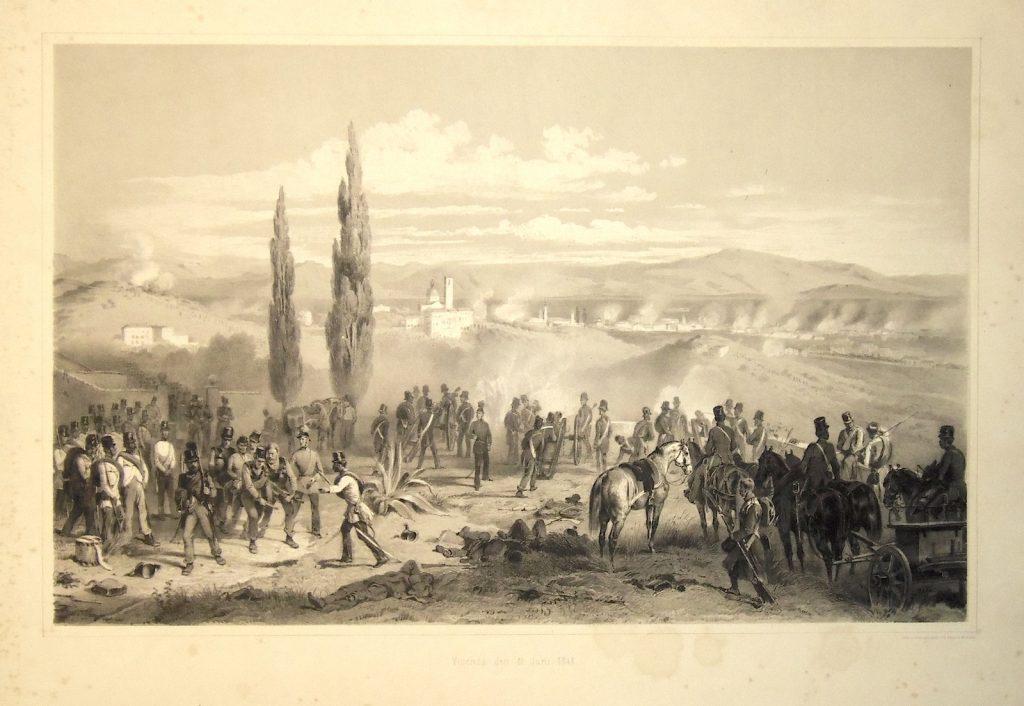 Il mio nome è Giacinto - dipinto di Adam Franz bombardamento austriaco di Vicenza nel 1848