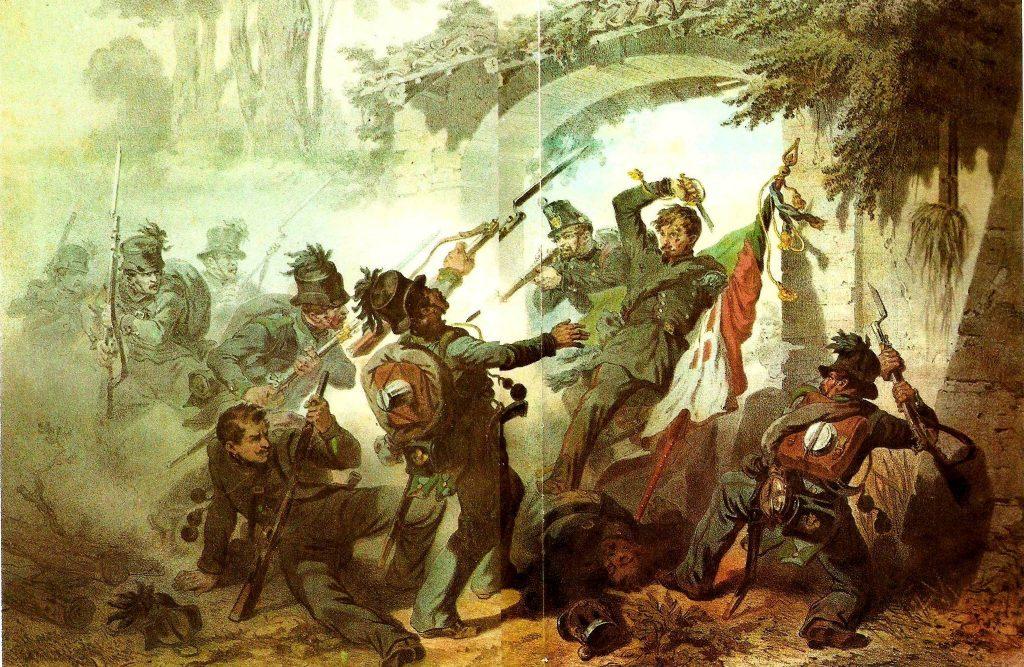 Battaglia Di Novara soldati piemontesi e austriaci in combattimento