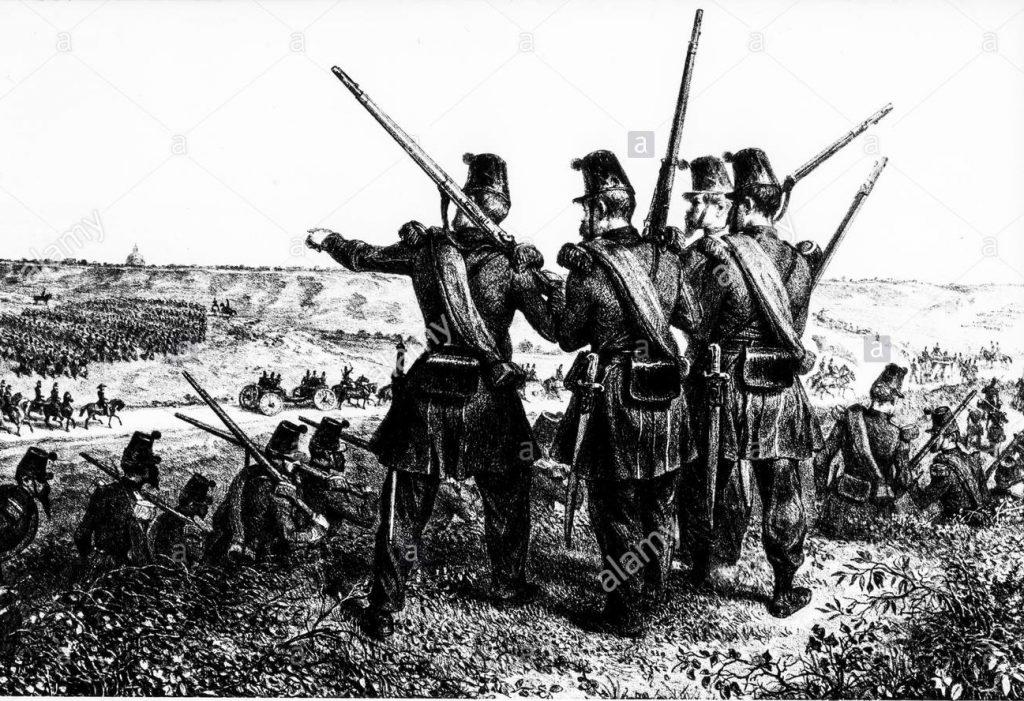 Mi chiamo Giacinto Soldati Francesi Allassedio Di Roma Foto Alamy