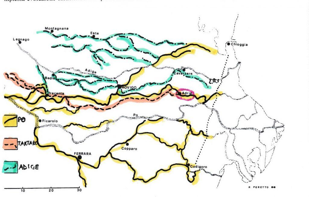 Mappa Idrografica Del Municipio Adriese In Epoca Romana Foto R. Peretto