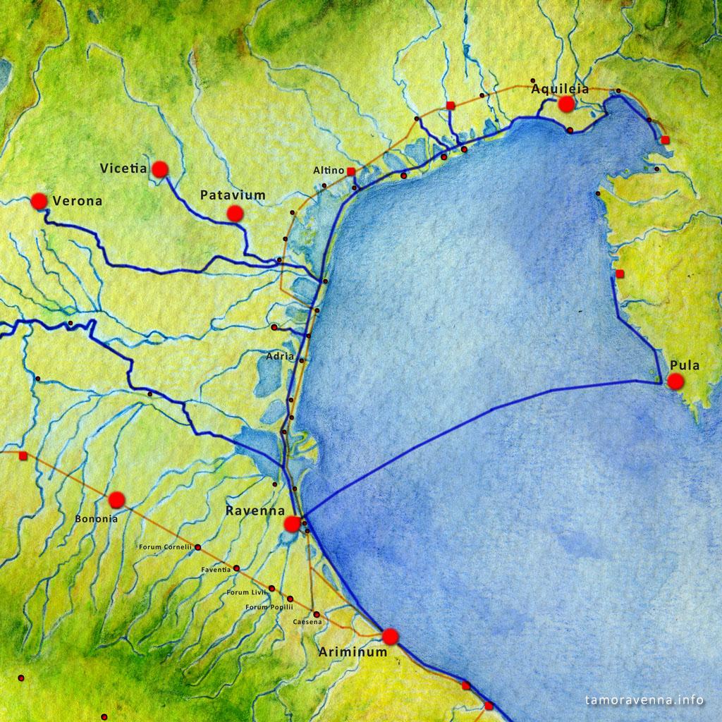Le Vie Dell'alto Adriatico In Epoca Romana