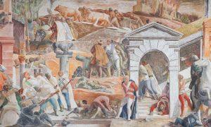 Dipinto Degli Scontri Tra La Popolazione Padovana E I Soldati Asburgici