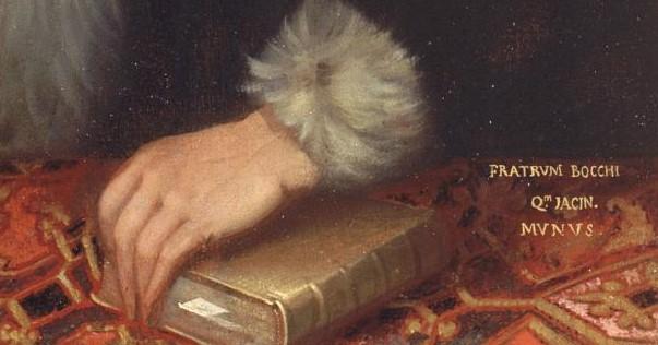 Il ritratto del Groto - particolare con scritta