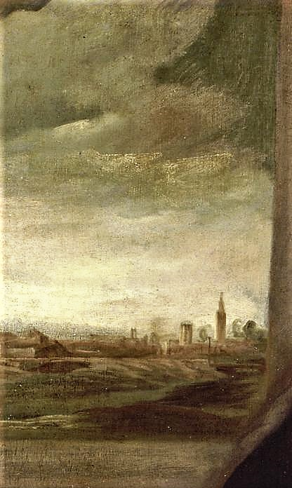 I Volti Del Cieco Dadria Particolare Paesaggio Ritratto Tintoretto