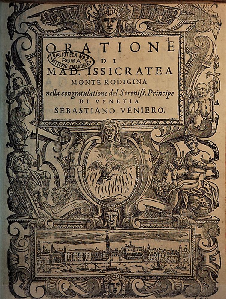 Il Cieco E L'illustre Donzella - Copertina orazione di Issicratea Monti