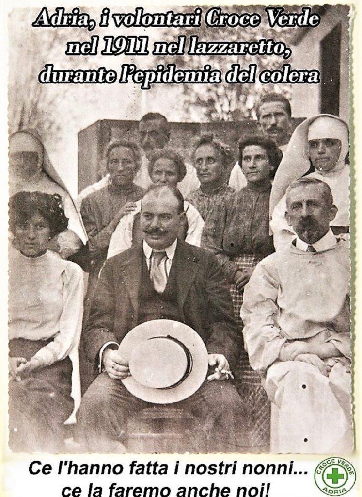 Epidemia - Vecchia immagine Croceverde 1911