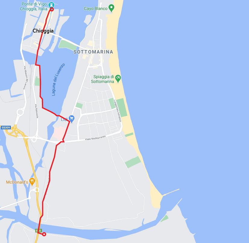 Da Adria a Chioggia in bicicletta Chioggia 100