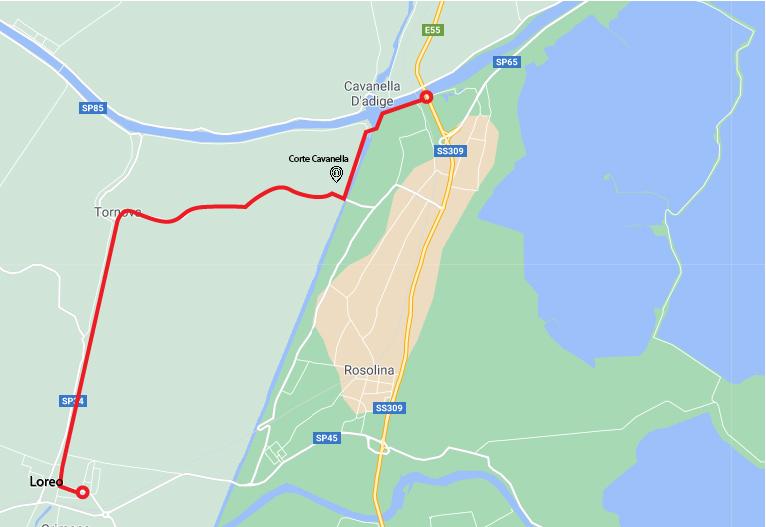 Da Adria a Chioggia in bicicletta Loreo Adige 100