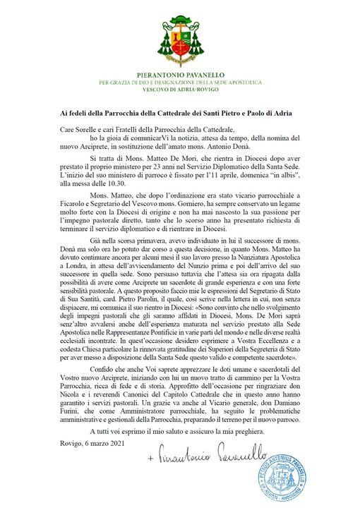 Cattedrale di Adria La Nomina Di Don Matteo