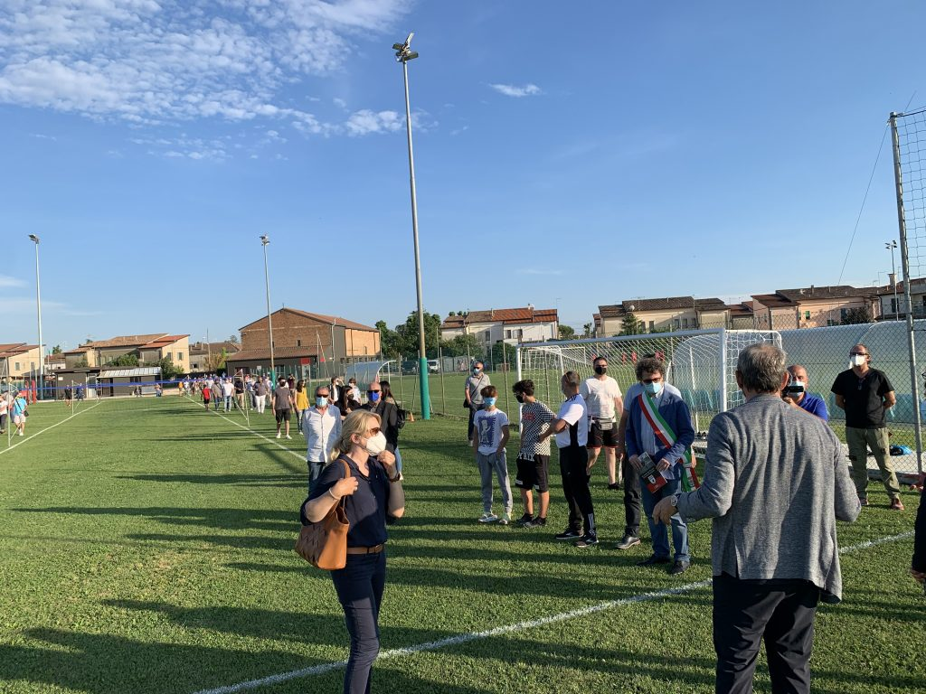 Adria: l'Accademia del Calcio Giovanile Momenti Delle Presentazione Del Complesso