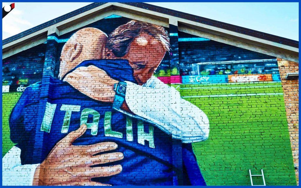 L'abbraccio storicoVialli Mancini