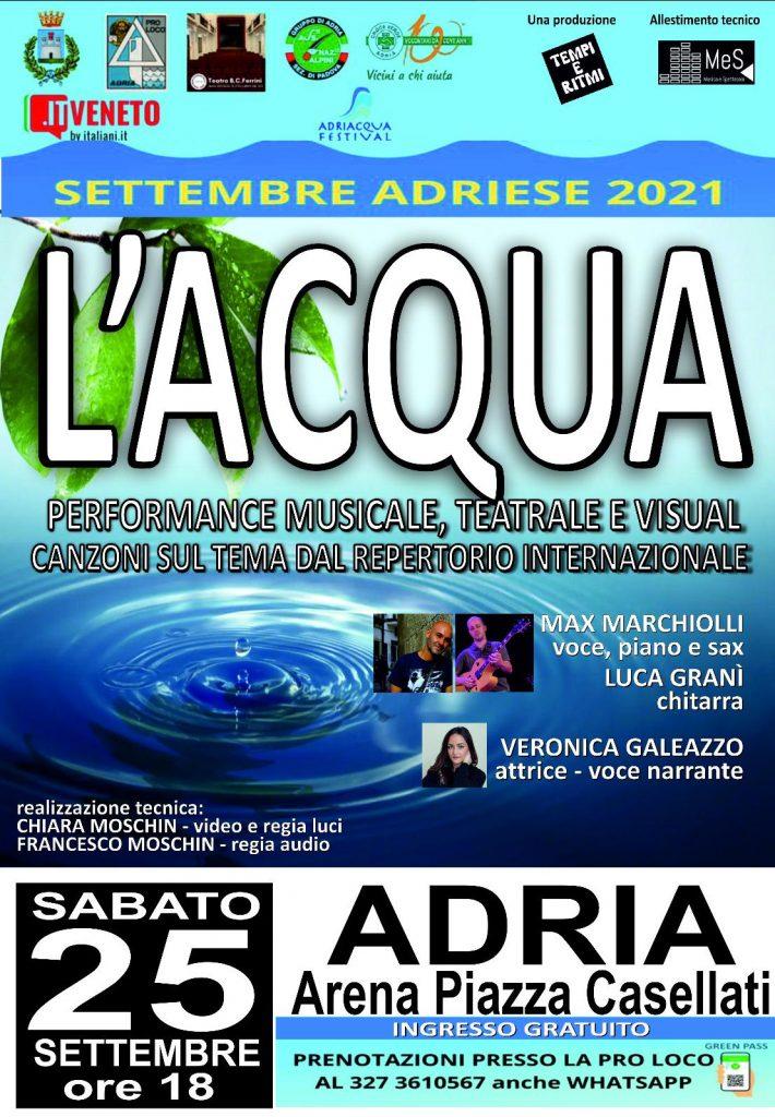 spettacoli Arena Casellati Concerto Acqua