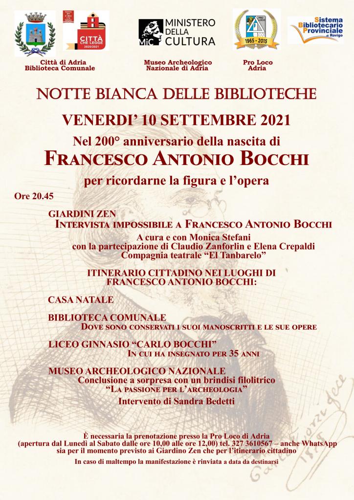 Francesco Antonio Bocchi Locandina Itinerario