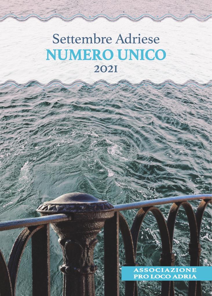 Numero Unico 2021 Copertina