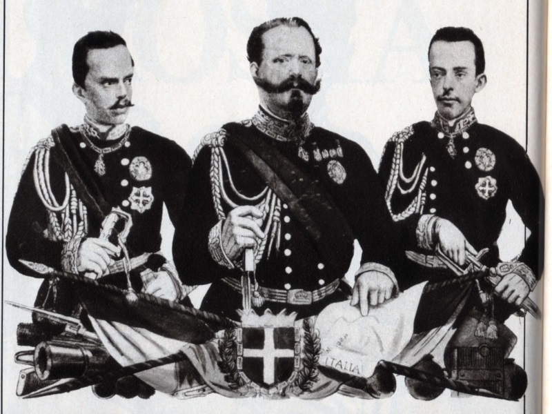 Umberto I Di Savoia, Vittorio Emanuele Ii Di Savoia E Amedeo Di Savoia Aosta