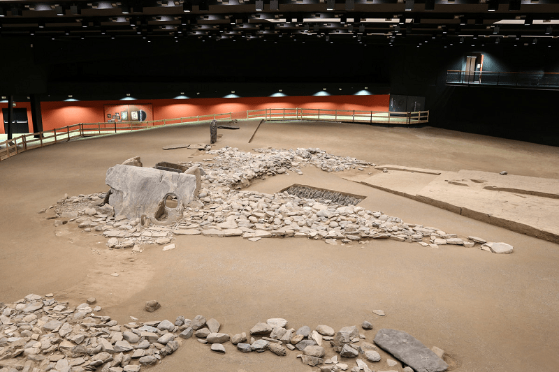 Particolare dell' Area megalitica di Saint-Martin-de-Corléans