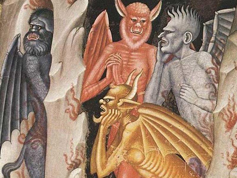Diavoli Della Val Veny - un dipinto con alcuni demoni
