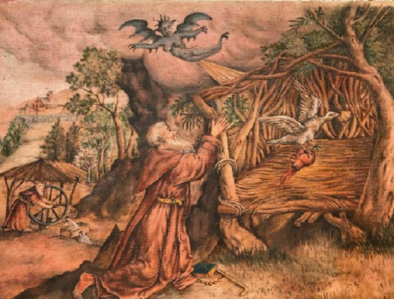 Diavoli Della Val Veny - frate che scaccia il demonio