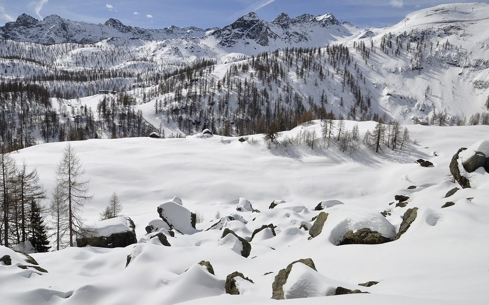 Neve In Valle D'aosta sulle montagne