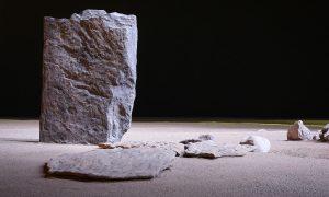 una Stele dell0 'area megalitica di Saint-Martin-de-Corléans