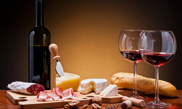 vino torrette, salumi e formaggi
