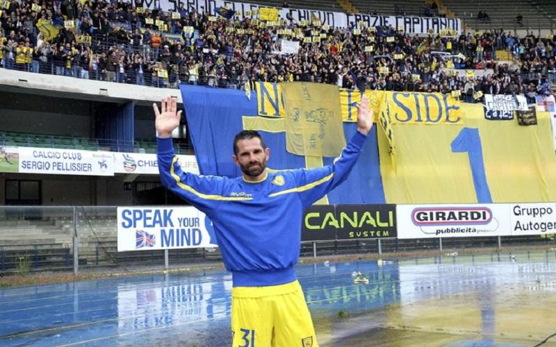 Sergio Pellissier Sotto La Curva clivense