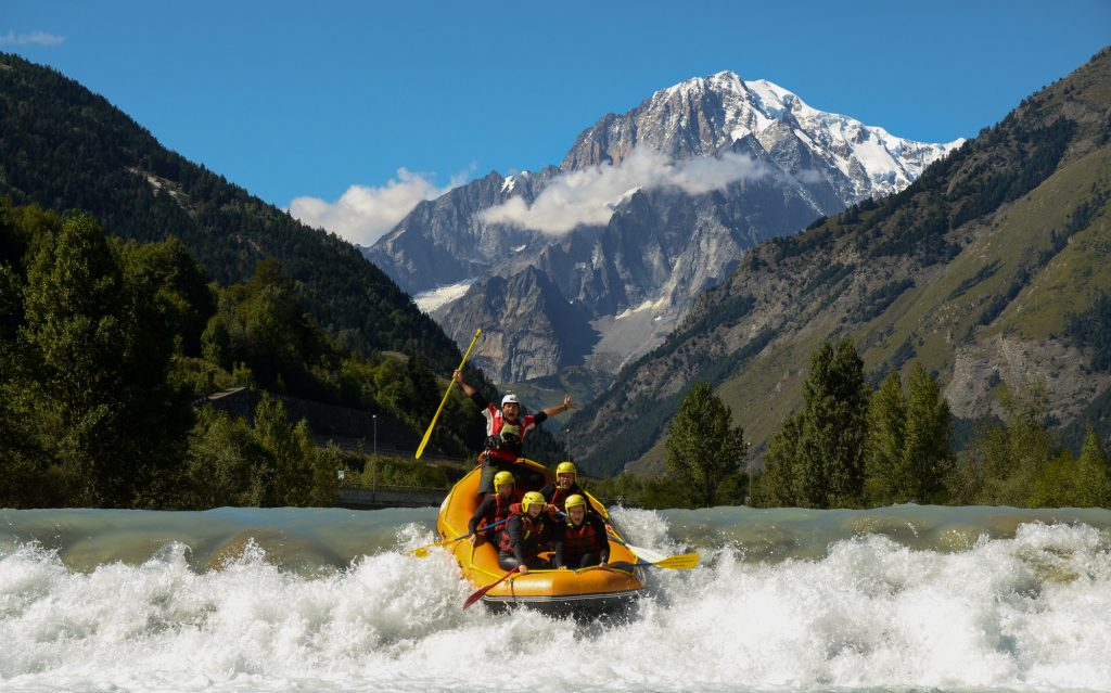 Rafting in estate ad Aosta