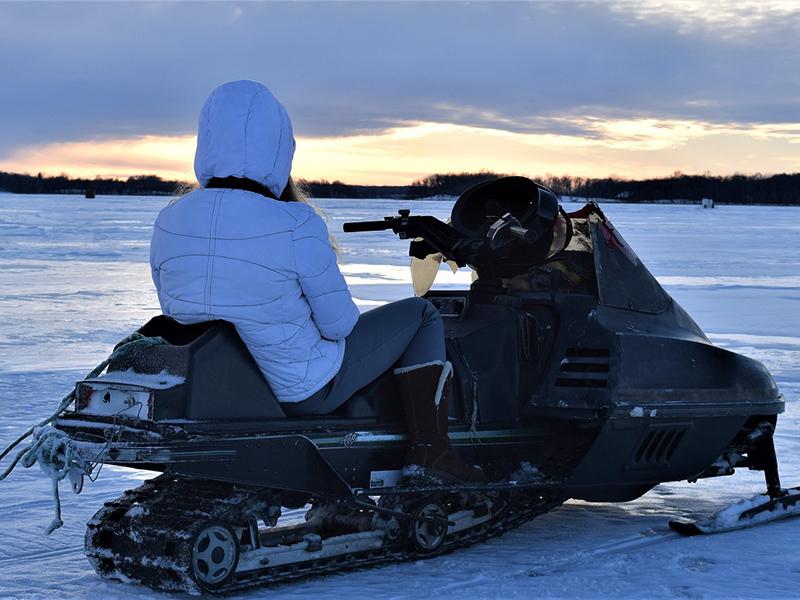 San Valentino in motoslitta