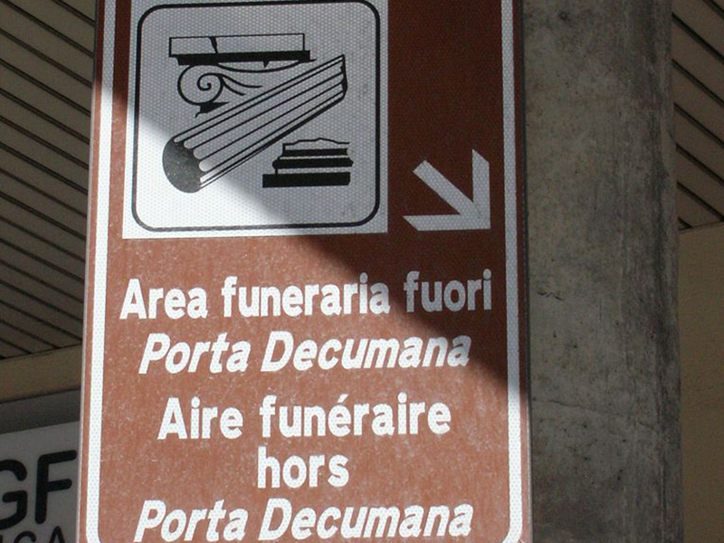 Area Funeraria fuori Porta Decumana