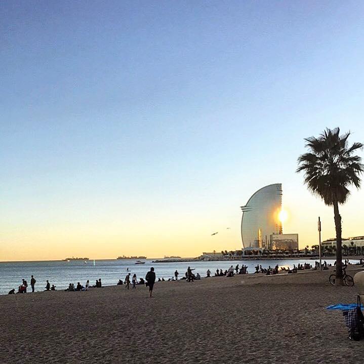 Spiaggia quartiere Barceloneta