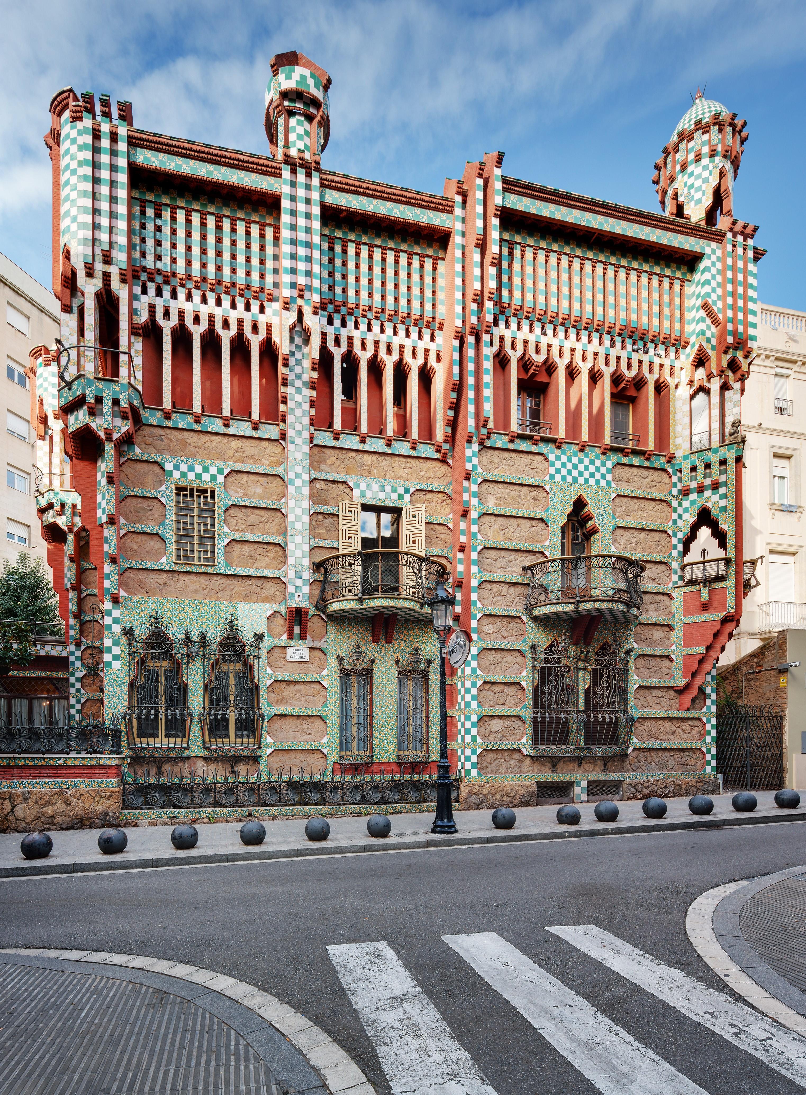 casa Vicens, esterno