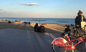 Barceloneta, Barcellona in bicicletta